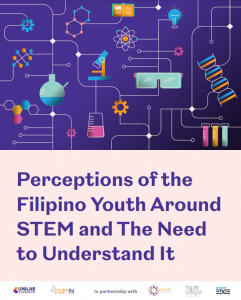 The front cover of the Youth in STEM: Philippines 2020 report